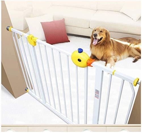 Gwendolyn Vallas Presión Fit Seguridad Puerta de Metal Soportes de 78cm de Altura El Ancho se Puede Seleccionar de 65 a 294cm Puerta for Mascotas Puerta del bebé con Posibilidad de ampliación