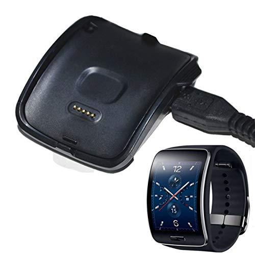 Luoshan Cargador de Base de Cuna de Carga con Cable USB para Samsung Gear S Smart Watch SM-R750