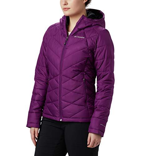 Columbia Women's Plus Size Heavenly Hooded Jacket, Wild Iris, 2X