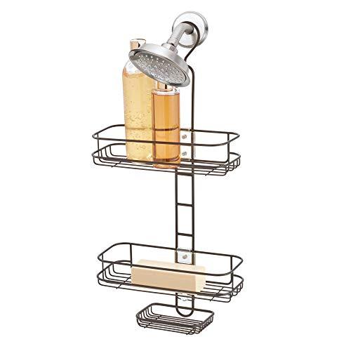 iDesign Linea verstellbarer Dusch Caddy, 52,3 cm x 21,8 cm x 22,8 cm, bronze/silber, metall
