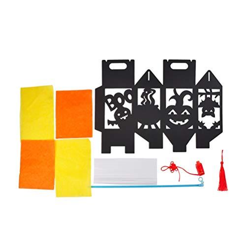 Halloween DIY Bat linterna de papel colgante decoraciones para fiesta club Pub material que hace el paquete (Mummy)