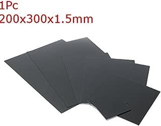 Black Smooth Acrylonitrile Butadiene Styrene Sheet 1/1.5/2mm - Raw Materials Plastics - (005) - 1 x ABS Styrene Plastic Sheet