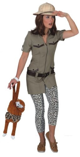 Orlob Damen Kostüm Safari Kleid zu Karneval Fasching in Größe 40