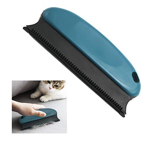 RICISUNG 抜け毛取りブラシ 猫 犬 ペット毛 掃除ブラシ ペットコーム 布団 カーペットなどを掃除 ブルー ソファー ベッド Ocean blue
