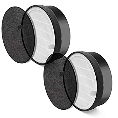 LEVOIT Air Purifier LV-H132 Replacement (2) True Hepa and Activated Carbon Filters Set, LV-H132-RF, 2 Pack, 2 Piece