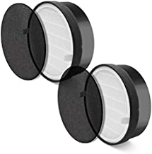 LEVOIT LV-H132-RF 2 Pack Replacement, 3-in-1 Nylon Pre, True HEPA, High-Efficiency Activated Carbon Filter, Black, 2 Count