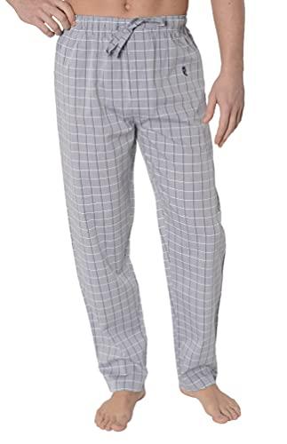 El Búho Nocturno - Pantalón Largo Popelín Cuadros Gris 100% algodón Talla 5 (XL)