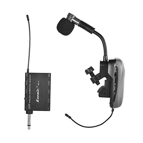 ammoon Baomic Wireless Mikrofon Mic BM-12 / V2 Professional UHF Drahtloses Instrument Mikrofonsystem Empfänger & Transmitter 630-690MHz 16 Kanäle für Saxophon Französisch Horn Trompete Trumbone