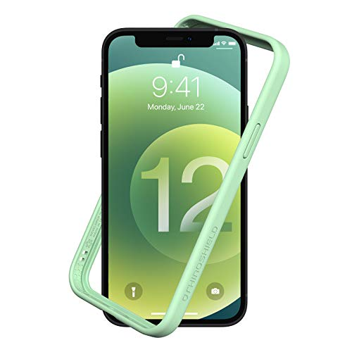 RhinoShield Bumper Case compatible with [iPhone 12/12 Pro] | CrashGuard NX - Shock Absorbent Slim Design Protective Cover 3.5M / 11ft Drop Protection - Mint Green