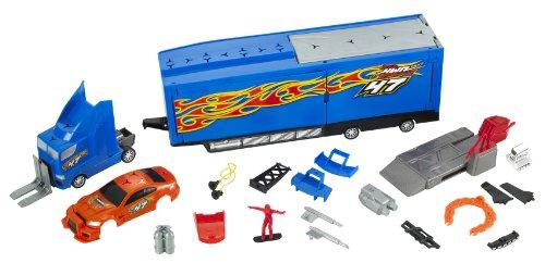 Mattel R5485-0 - Hot Wheels Custom Motors Tuning Rennwagen-Transporter
