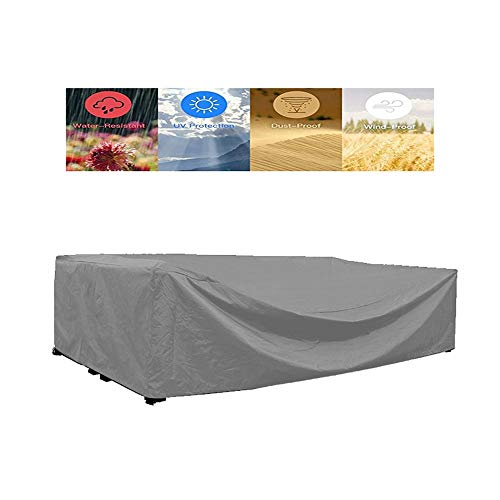 NINGWXQ Garden Furniture Cover Outdoor winddicht Koord Ontwerp Protection zeildoek van Patio Deck Terras, 25 maten, 2 kleuren (Color : Silver, Size : 205×104×71cm)