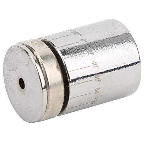 T best Malen Magnetkompass Messung, Eisen Multifunktions-Zeichenlineal Werkzeug Innovatives Zeichenlineal Magnetkompass(schwarz)