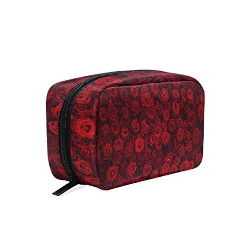 Trousse de maquillage Rose Motif Art Fleur pochette cosmétique Pochette