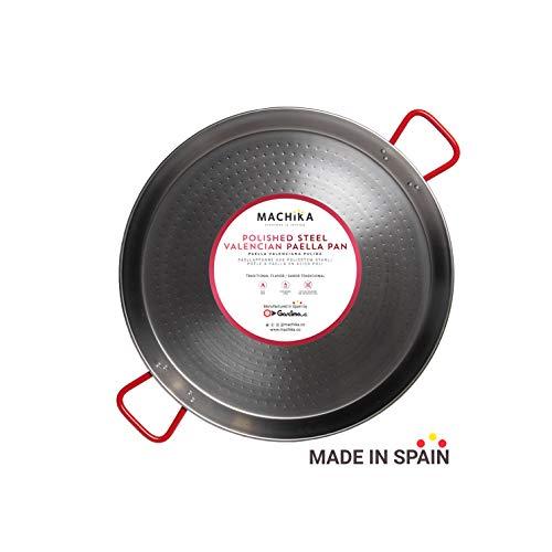 Machika Polished Steel Paella Pan 24 inch (60 cm)
