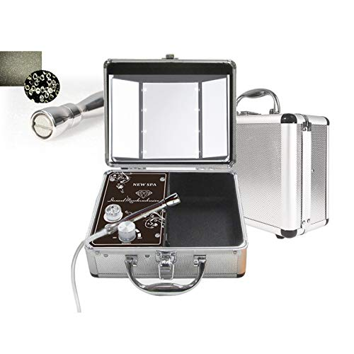 Vacuum Microdermabrasion Portable Machine NEW SPA HOME Skin Care Kit (Silver)