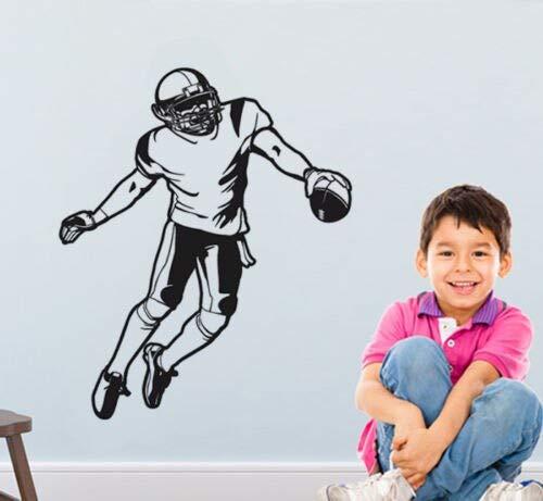 hetingyue muursticker voetballer American vinyl kunstenaar afneembaar woonkamer wanddecoratie