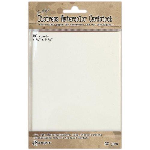 Ranger Détresse aquarelle papier cartonné, 4,25 par 14 cm, 20-pack par Ranger