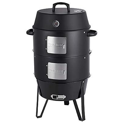 SUNLIFER Vertical Combination Grill Smoker