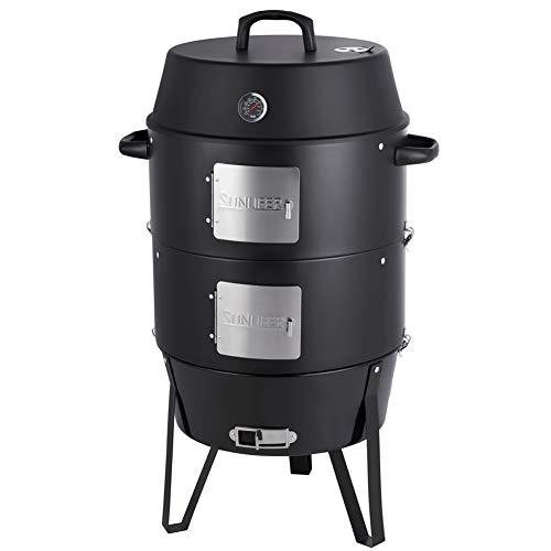 Best Deals! SUNLIFER Charcoal Smoker Grill