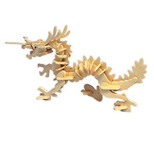 CHINESISCHE DRACHE 3D Holzbausatz / Modell - Säugetier von HuntGold