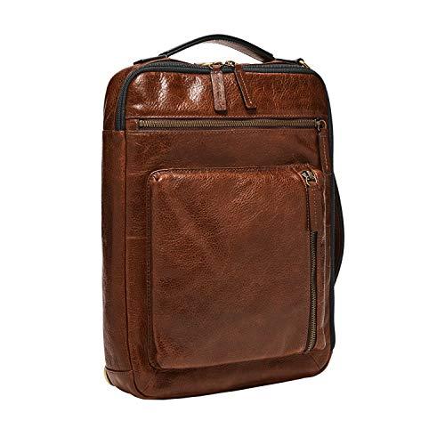 Fossil Men's Buckner Leather Large Convertible Sling Bag, Cognac, 10 L x 2.5 W 13.5 H US