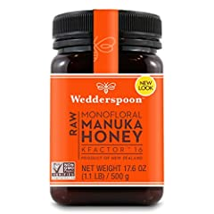 MONOFLORAL HONEY: Our Manuka Honey is raw, never pasteurized, Non-GMO Project verified Manuka Honey, traceable from hive to home. Enjoy one 17.6 Oz BPA free, non-leaching poly jar filled with delicious KFactor 16 honey NEW ZEALAND HONEY BEES: Over a ...
