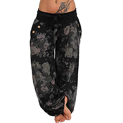 Wtouhe Femme Pantalons,2021 Printemps éTé Automne Pantalon Casual Harem Pantalon Sarouel Pantalon Rouge Noir Blanc Bleu Aladdin Imprimé Bloomers Pantalon DéContractéE Yoga Pantalons Danse Pants