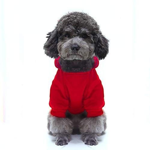 Maglione per Cani, Pullover Cane Felpe con Cappuccio per Cani, Felpa Cuccioli Vestiti per Cane di Piccola Taglia