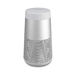 Incroyablement puissante. Étonnamment compacte: cette enceinte sans fil portable est conçue pour offrir un véritable son à 360° assurant un rayonnement acoustique homogène et uniforme. Enceinte portable robuste: le modèle SoundLink RevolveII résis...