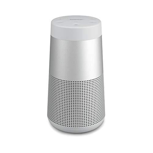 Bose SoundLink Revolve (Serie II) Bluetooth speaker – Tragbarer, wasserabweisender kabelloser Lautsprecher mit 360°-Klang, Silber