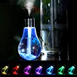 JSG Humidificador 400ml USB Aromaterapia Ultrasónico,Luz Led 7 Colores Portátil Difusor de Aceites Nebulizador de Paisaje Relajante