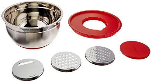 Cuisinart Mixing Bowl with Graters, Red