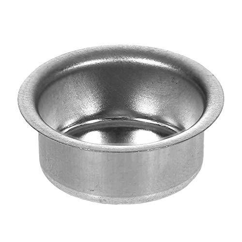 Bütic GmbH Kerzenhalter Silber 22mm - Kerzen Tülle für Standard Kerzen, Stabkerzen, Größe:Tülle 20er Set