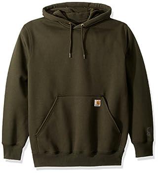 Carhartt Men s Rain Defender Paxton Heavyweight Hooded Sweatshirt Peat Large
