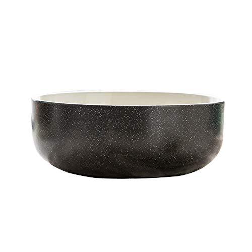 HHUT Schüssel - Koreanisches Geschirr Reisschüssel Suppenschüssel Nordic Impression 4,5 Zoll Einzelverpackung Mikrowelle Suppenschüssel (Color : Black)