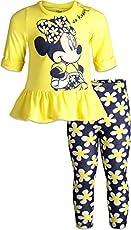 Disney Minnie Mouse Toddler Girls T-Shirt T-Shirt Legging Set Yellow Long-Sleeve 3T