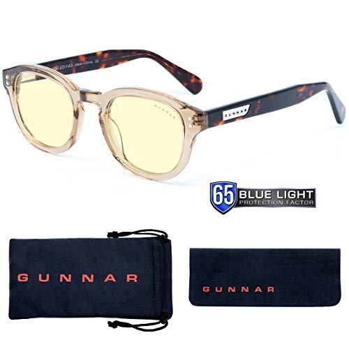 GUNNAR Gaming- und Computerbrille | Emery, Rose/Tortoise Rahmen, Amber Linse | Blue Light Blocking Glasses | Patentierte Linse, 65{c985104fa86b6ab36c8cfd8e64e46984da9ba4337b4bd5be369ce8068f168431} Blaulicht- & 100{c985104fa86b6ab36c8cfd8e64e46984da9ba4337b4bd5be369ce8068f168431} UV-Lichtschutz zur Verringerung der Augenbelastung