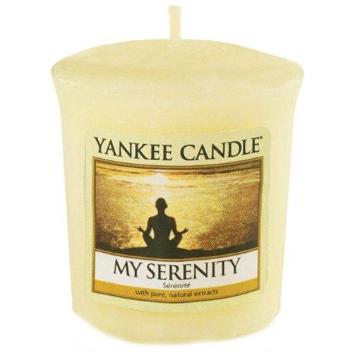 YANKEE CANDLE 49 g Mi Serenidad Vela Votiva, Cera, Amarillo, 4.6x4.5x5.3 cm