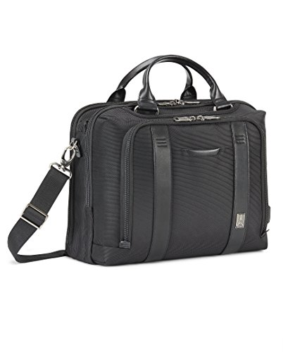 Travelpro Crew Executive Choice 2 Pilot Underseat Brief with USB Port Briefcase, Black, 16-Inch