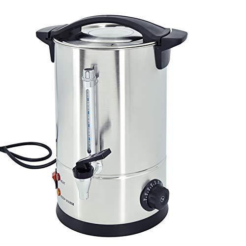 TAIMIKO Hervidor dispensador Con filtro,Dispensador de bebidas,café,té,con grifo, Mantener el calor,10L temperatura regulable 30-100°C, tapa extraíble,acero inoxidable