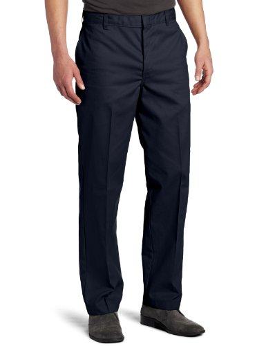 Dickies Men's Flat Front Pant, Dark Navy, 36X32