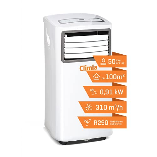 Climia mobiler Bautrockner ca. 50 Liter in 24h, Ventilator und Luftentfeuchter