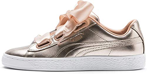 PUMA Basket Heart Luxe Damen Sneaker Dusty Coral-Puma White UK 6_Adults_FR 39