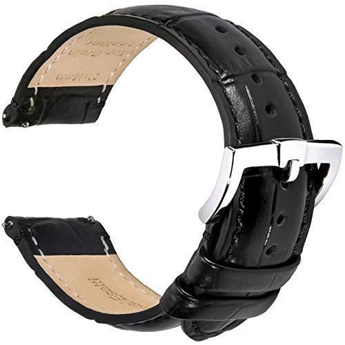 BRISMASSI ESETTI Top-Grain Leder Uhrenarmbänder - Schnellverschluß Uhrenarmbänder Leder Armbänder 18mm 20mm 22mm für Herren & Damen - Weiche & Langlebige Luxus Lederarmbänder
