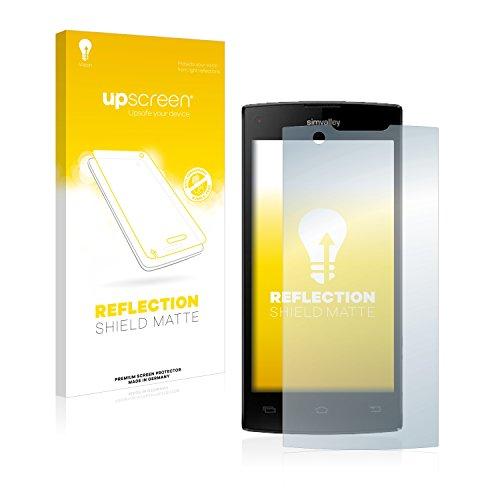 upscreen Entspiegelungs-Schutzfolie kompatibel mit Simvalley Mobile SP-2X.Slim – Anti-Reflex Bildschirmschutz-Folie Matt