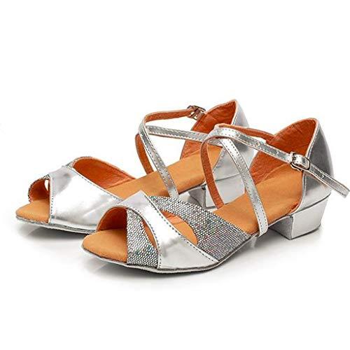acction Zapatos de Baile Latino para el salón de Baile con Purpurina y Salsa para Mujer/Niñas Zapatos de...