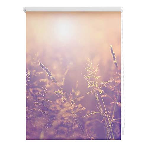 Lichtblick KRT.120.150.352 Rollo Klemmfix, ohne Bohren, Blickdicht, Sommerabend - Orange 120 x 150 cm (B x L)