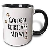 Lawenp Tazza della mamma del cane Golden Retriever, 11 once, nera