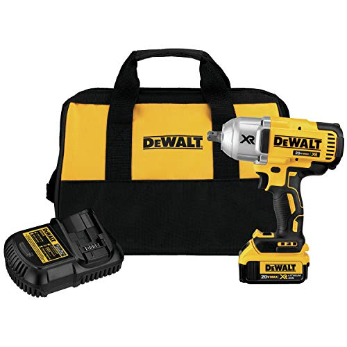 DEWALT DCF899M1R 20V Max XR Brushless High Torque 1/2' Impact Wrench with Dentent Pin Anvil-4.0 Ah...