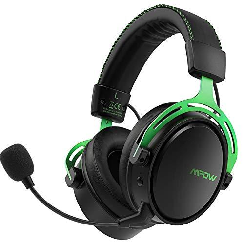 Mpow EG9 - Auriculares para Juegos para PS4, luz LED RGB de 7 Colores, Sonido Envolvente, para PC, Auriculares estéreo, Auriculares de Gaming, para Xbox One, Ordenador, Mac, móvil, Nintendo Switch